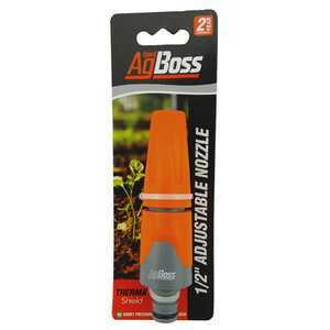 "AgBoss 12mm - 1/2"" Adjustable Garden Hose Nozzle"