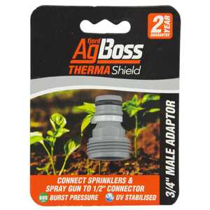 "AgBoss ThermaShield 3/4"" Male Garden Hose Adaptor"