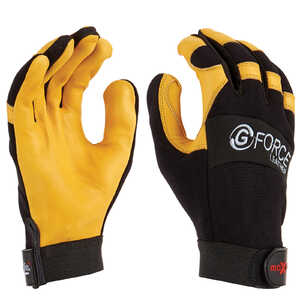 Maxisafe G-Force Leather Mechanics Gloves w/ Leather Palm