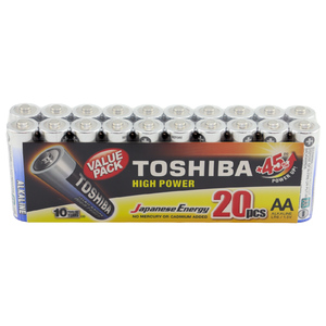 Toshiba 20-Pack High Power Alkaline AA Batteries