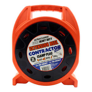 Ultracharge 15m Contractor Series 15A Extension Reel